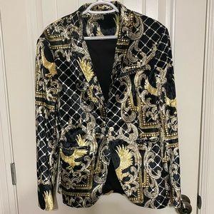 Zara Velvet Look Suit Blazer 41